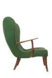 Groene retro leunstoel Stock Afbeelding