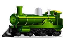 Groene retro trein Royalty-vrije Stock Afbeelding