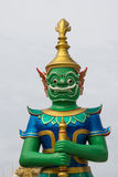 Groene reus in Thaise tempel Royalty-vrije Stock Afbeelding