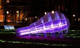 Groene Revolutie, het Lichte Festival van Amsterdam Royalty-vrije Stock Foto's