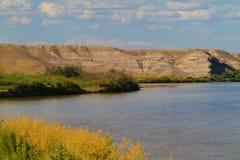 Groene Rivier in Nationaal het Wildtoevluchtsoord van Ouray Royalty-vrije Stock Foto's