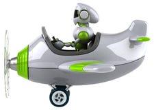 Groene robot - 3D Illustratie royalty-vrije illustratie