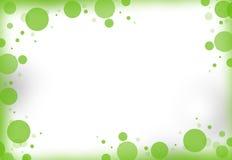 Groene ronde punten royalty-vrije illustratie