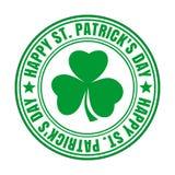 Groene rubberzegel - Gelukkige St Patricks Dag Royalty-vrije Stock Afbeelding
