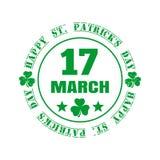 Groene rubberzegel voor St Patricks Dag Stock Foto