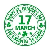Groene rubberzegel voor St Patricks Dag Stock Afbeelding