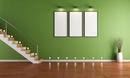 Groene ruimte met trap royalty-vrije illustratie