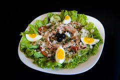 Groene salade _1 Stock Foto's