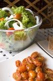 Groene Salade en tomaat Royalty-vrije Stock Afbeeldingen