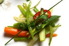 Groene salade met verse groenten Stock Afbeelding