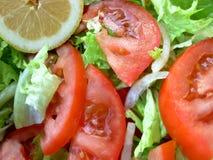 Groene salade - sla en tomaten royalty-vrije stock foto