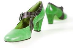Groene schoenen Royalty-vrije Stock Foto's