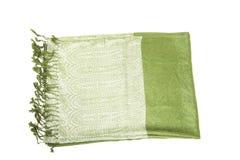 Groene scraf Royalty-vrije Stock Afbeeldingen