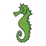 Groene seahorse Stock Afbeeldingen