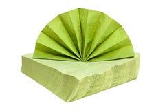 Groene servetten. Stock Afbeeldingen