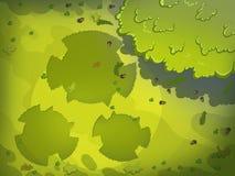 Groene Silhouetten op het Gras van de Weide vector illustratie