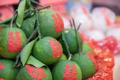 Groene Sinaasappel Royalty-vrije Stock Afbeeldingen