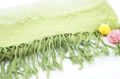Groene sjaal Royalty-vrije Stock Foto