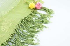 Groene sjaal voor hals Stock Foto
