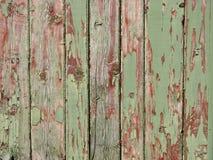 Groene sjofele houten muur als achtergrond, textuur Royalty-vrije Stock Foto