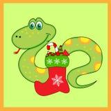 Groene slang van met Laarzen Stock Afbeelding