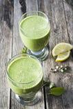 Groene smoothies Royalty-vrije Stock Foto