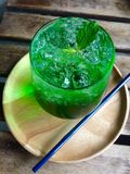 Groene soda Royalty-vrije Stock Afbeeldingen