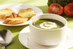 Groene soep Royalty-vrije Stock Foto