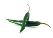 groene Spaanse peper Royalty-vrije Stock Afbeeldingen