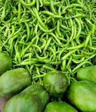 Groene Spaanse peperpeper Royalty-vrije Stock Afbeeldingen