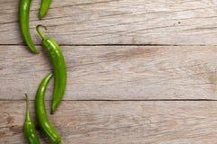 Groene Spaanse peperpeper stock foto