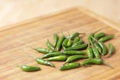 Groene Spaanse pepers Royalty-vrije Stock Afbeeldingen