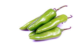 Groene Spaanse pepers Stock Afbeeldingen