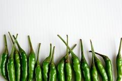 Groene Spaanse pepers Stock Foto's