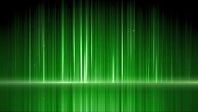 Groene spiegeloppervlakte met bel het toenemen royalty-vrije illustratie
