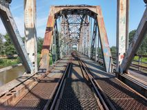 Groene spoorwegbrug Royalty-vrije Stock Afbeelding
