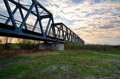 Groene spoorwegbrug Stock Afbeelding