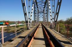 Groene spoorwegbrug Royalty-vrije Stock Fotografie