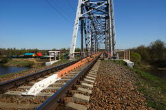 Groene spoorwegbrug Stock Afbeeldingen