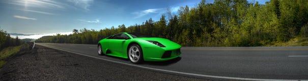 Groene sporrtsauto Royalty-vrije Stock Fotografie