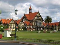 Groene sporten en gebouwen Royalty-vrije Stock Foto