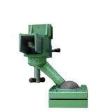 Groene staalbankschroef Stock Foto's