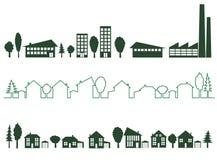 Groene stad Royalty-vrije Illustratie