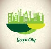 Groene stad Royalty-vrije Stock Fotografie