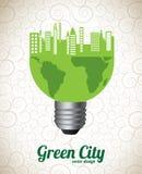 Groene stad Royalty-vrije Stock Afbeelding