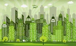 Groene stad Stock Foto