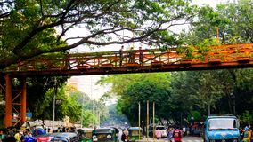 Groene stad Dhaka in Bangladesh stock fotografie