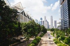 Groene stad van de toekomst stock foto