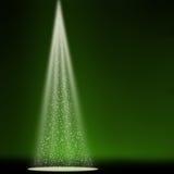 Groene stadium fonkelende schijnwerper Vector Illustratie