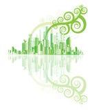 Groene stadsvector Stock Foto